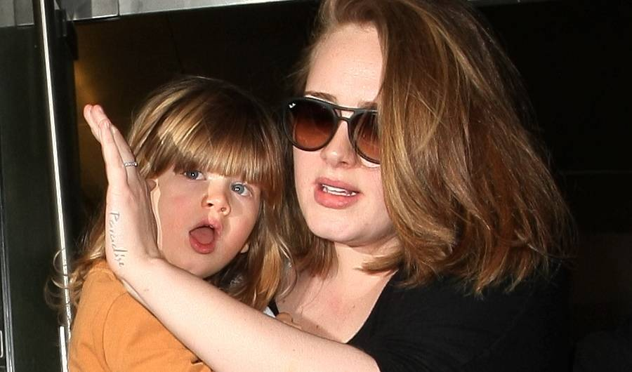 adele and child
